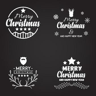 크리스마스 타이포그래피 로고 디자인