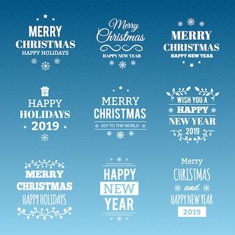 Набор рождественской типографии