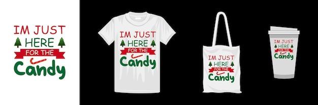 クリスマスのタイポグラフィtシャツのデザインテンプレート。クリスマスの日のカラフルなtシャツのデザイン。