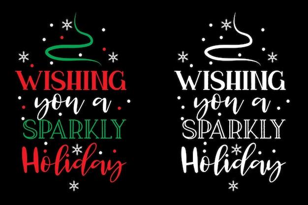 Рождественский дизайн футболки типографии рождественский вектор типографии дизайн футболки