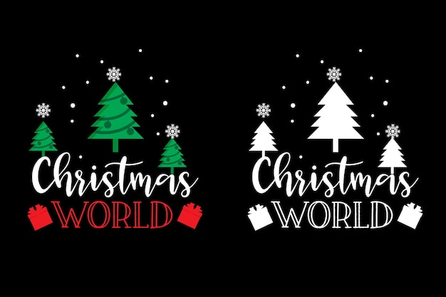 Рождественский дизайн футболки типографии