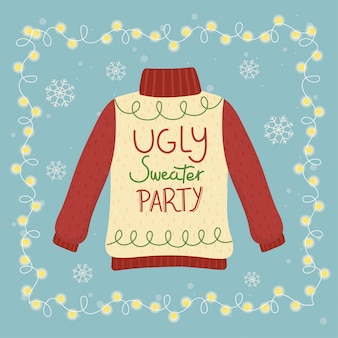 Christmas ugly sweater party glowing lights decoration