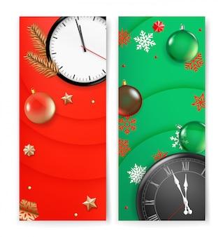 Christmas vectical banner template, advertising banner