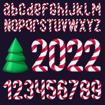 Рождественский векторный алфавит