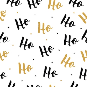 Christmas vector greeting lettering seamless pattern