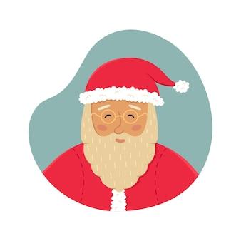 Рождественские векторные иллюстрации с милым санта-клаусом. новогодняя открытка.