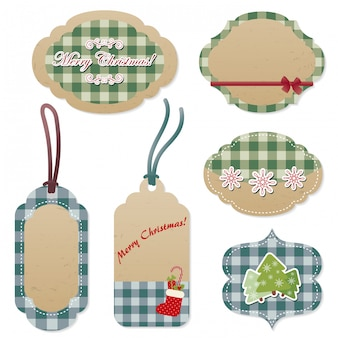 Christmas vector labels and tags