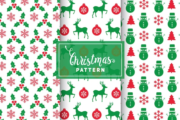 Christmas vector patterns. simple, minimalist designs. eps 10, vector objects.