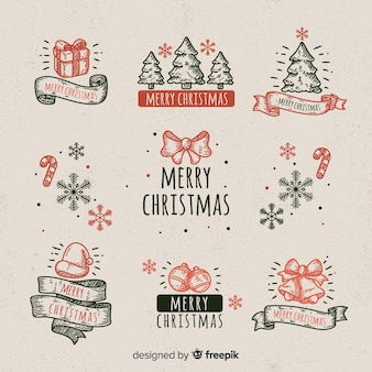 Christmas vintage elements collection