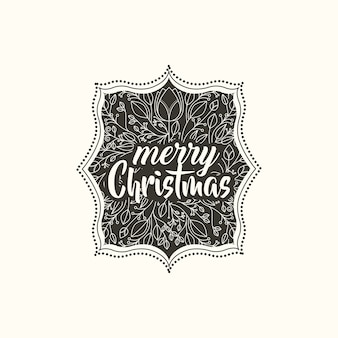 Christmas vintage frame icon vector illustration design
