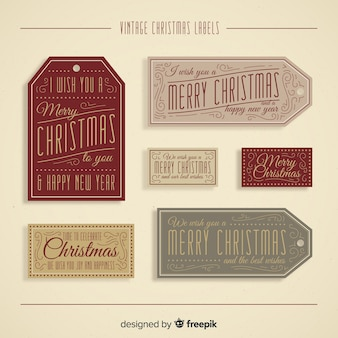Christmas vintage labels collection