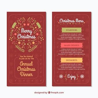 Рождественское старинное меню