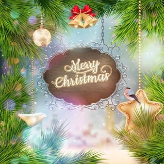 Старинные рождественские вывеска.