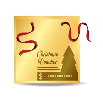クリスマスソングアイコン付きクリスマスバウチャー