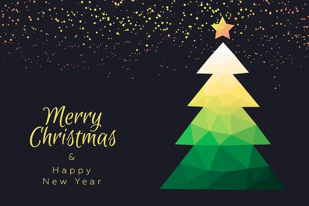 Christmas wallpaper in polygonal style