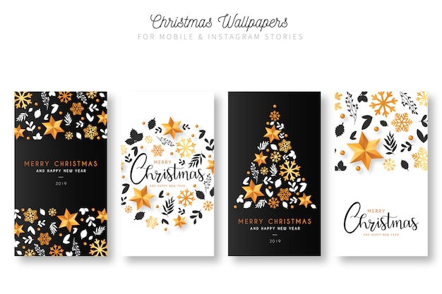 Christmas wallpapers for mobile & instagram stories