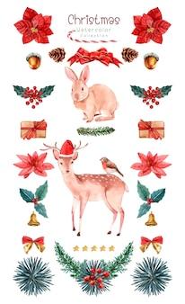크리스마스 수채화 모음