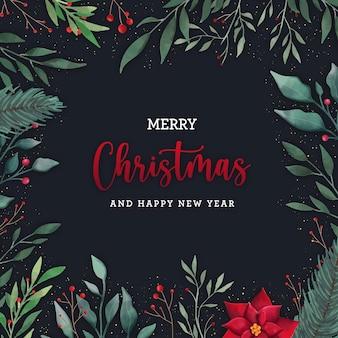 Christmas watercolor elegant background