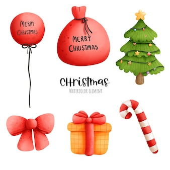 Рождественский акварельный элемент