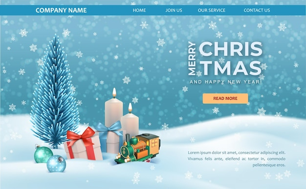 Christmas web background template