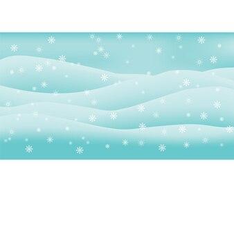 눈 덮인 언덕 추상의 배경에 크리스마스 하얀 눈송이
