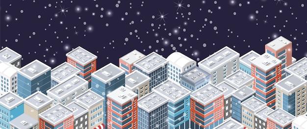 크리스마스 겨울 도시 배경