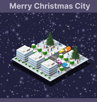Christmas winter city graphic conceptual holiday