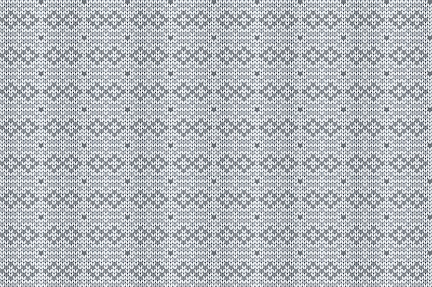 Christmas, winter holiday knitting seamless pattern for plaid, sweater design.