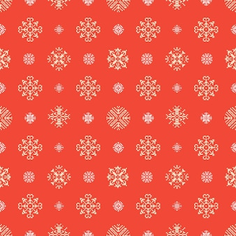 Christmas winter holidays snowflakes pixel seamless background.  pattern