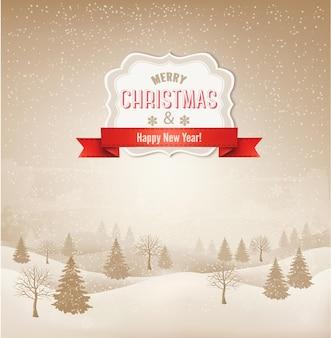 크리스마스 겨울 풍경 배경입니다. .