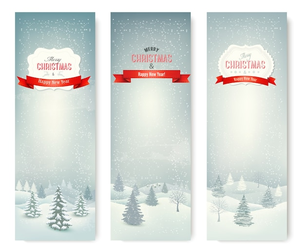 크리스마스 겨울 풍경 배너