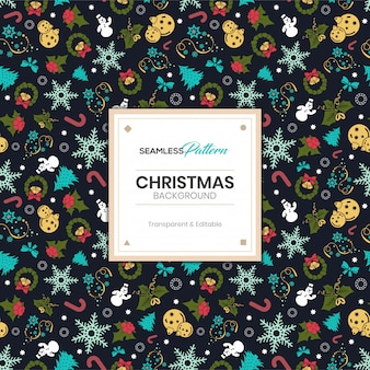 Christmas winter seamless pattern