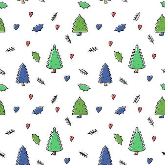 크리스마스 위시리스트 템플릿 세트 손으로 그린 요소 원하는 선물이 있는 카드 컬렉션
