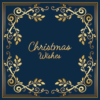 Christmas wishes card design vector
