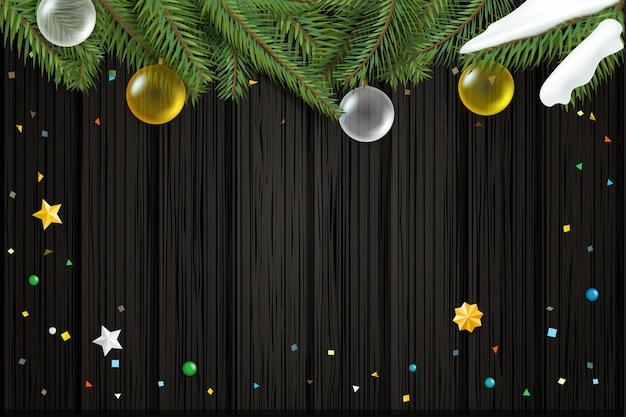 クリスマスの願いカードベクトルテンプレート