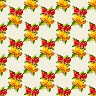 Christmas with bells. seamless pattern.