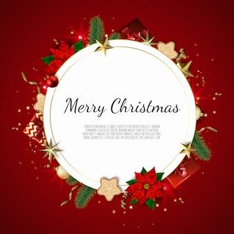 装飾的なフレームとクリスマス
