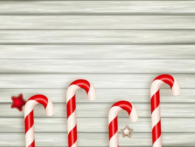 クリスマスの木製の背景。