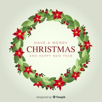 크리스마스 화 환 배경