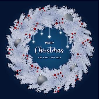Рождественский венок фон