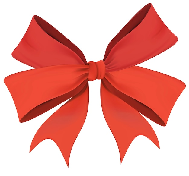 Christmas wreath bow isolated