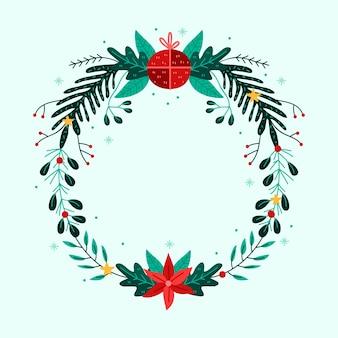Концепция рождественский венок в руке обращается