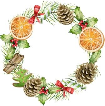 クリスマスリースの装飾