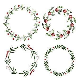 Рождественский венок дизайн. векторная иллюстрация.