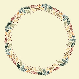 Christmas wreath design vector.