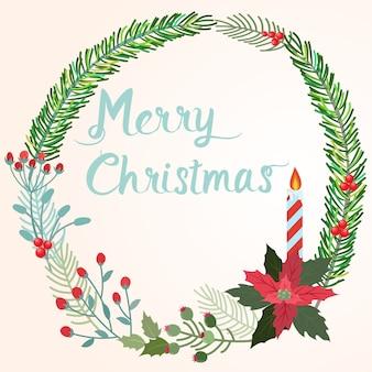 Christmas wreath design.