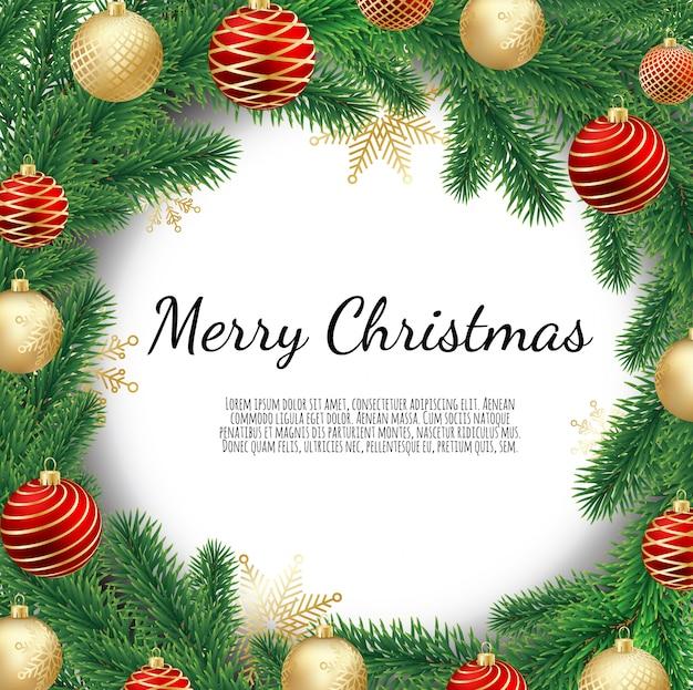 Christmas wreath isolated on white background