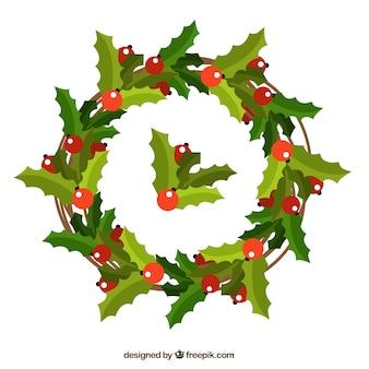 Рождественский венок из омелы