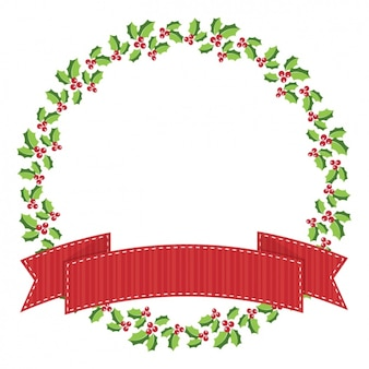 Christmas wreath tempate background