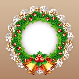 Рождественский венок с колокольчиками